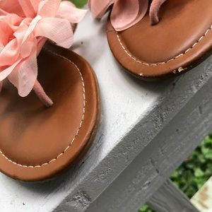 carrie Shoes - Carrie girls peach tulle flower sandal beading 3
